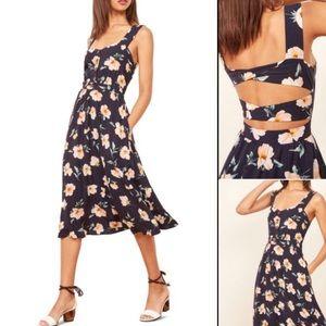 NWT Reformation Lanai Floral Blue Dress Size XS